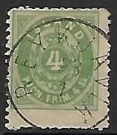Iceland   1873   Sc#O3  4sk Official Used   Perf 12 1/2  2016 Scott Value $525 - Dienstpost