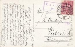 K.K.ZENSUR (Sonderstempel), Stempel PILSEN, Auf Ak PLZEN MESTSKE MUSEUM - Gel.1917 - 1914-18