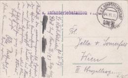 K.u.K.INFANTERIEBATAILION (Sonderstempel), Hauptfeldpostamt 400, Auf Ak PARASTO NELLE BOCCHE DI CATARRO - Gel.1917 - 1914-18