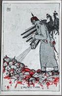 """CPA Guerre 1914-18. Edit. Sans.  Illus. G.P  """"L'Inspection""""... - Oorlog 1914-18"""