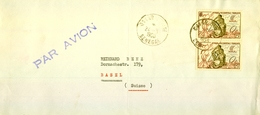 1950 , SENEGAL , DAKAR - BASILEA , CORREO AÉREO, EMISIONES  AFRICA OCCIDENTAL FRANCESA - A.O.F. (1934-1959)
