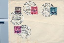 1939 , CHECOSLOVAQUIA , CEKLIS / SAVRATIL KVLASTI , MAT. CONMEMORATIVO - Covers & Documents