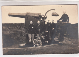 Fotocartolina Di Militari E Cannone-Foto C. Torletti-Alessandria-Originale 100%- - Autres