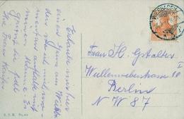 1917 , ALEMANIA , WIESBADEN - BERLIN , TARJETA POSTAL CIRCULADA - Cartas