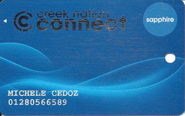 Creek Nation Casinos - Oklahoma, USA - Slot Card - Last Line Reverse Starts 'and Its Courts' - Casino Cards