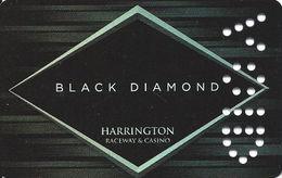 Harrington Raceway - Harrington, DE - Manufacturer's Sample Black Diamond Card Punched VOID - Casino Cards