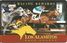Los Alamitos Race Course Calif - Slot Card - BLANK REVERSE - Casino Cards