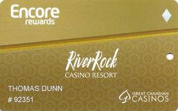 River Rock Casino - Richmond, BC Canada - Slot Card - Casino Cards