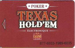 Casino Du Lac Leamy - Hull, QC Canada - Slot Card - Casino Cards