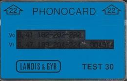 """680/ Netherlands; Test Card """"22"""", Blue; CN 004314 - Netherlands"""