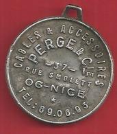 NICE MEDAILLE ALUMINIUM 35 MM De DIAMETRE;;;; PERGE Et Cie;;;;cables Et Accesoires N23 - Professionnels / De Société