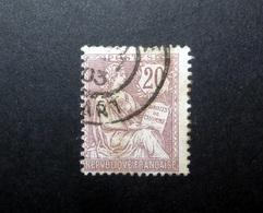 FRANCE 1902 N°126 OBL. (MOUCHON RETOUCHÉ. 20C BRUN-LILAS) - 1900-02 Mouchon