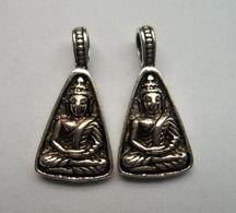 Argent Tibétain Pendentif De Charmes De Bouddha - Pendants
