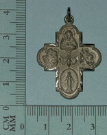 Medaille Religieuse, Medal, Medaglia - Medaille Cruciforme, Multi-dévotions, 7 Gr - Religion & Esotérisme