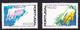 Portugal SG 1733-1734 1978 30th Anniversary Declaration Human Rights, Mint Never Hinged - Unused Stamps