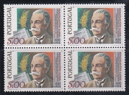 Portugal SG 1736 1978 50th Anniversary Death Of Magalhars Lima, Block 4, Mint Never Hinged - Unused Stamps