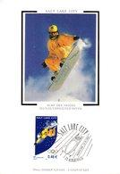 """FRANCE 2002 """" J.O. DE SALT LAKE CITY """" Sur Carte Maximum En Soie. N° YT 3460. Parfait état CM - Winter 2002: Salt Lake City"""