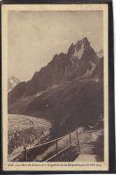 74217 . LA MER DE GLACE ET L AIGUILLE DE LA REPUBLIQUE . (recto/verso) ANNEE  1925 - Chamonix-Mont-Blanc