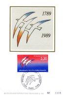"""FRANCE 1989 """" BICENTENAIRE DE LA REVOLUTION FRANCAISE """" Sur Carte Maximum En Soie. N° YT 2560 Parfait état CM - Révolution Française"""