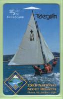 New Zealand - 1993 Scout Regatta - $5 Yacht - NZ-E-8 - Mint - New Zealand