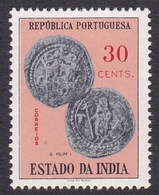 Portuguese India 1959 Coins 30c, Mint Never Hinged - Portuguese India