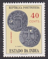 Portuguese India 1959 Coins 40c, Mint Never Hinged - Portuguese India