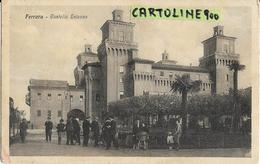 Emilia Romagna-ferrara Citta Castello Estense Veduta Animatissima Persone Bimbi Passeggini Giardini - Ferrara