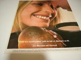 ANCIENNE PUBLICITE DIAMANTS ETERNEL 1978 - Bijoux & Horlogerie