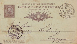 Postkarte C 7 Von Genova In Die Schweiz (br3514) - 1878-00 Umberto I