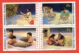 Marshall Islands 1990. National Traditions.Block Of Four Stamps. - Marshall Islands