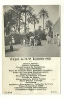 CARTE POSTALE ANCIENNE MENU SEPTEMBRE 1906 AFRIQUE ATTELAGE ANIMATION - Postcards