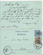KRA103 /  Doppelkarte P 41 I, Aufgewertet. Neustetten 13.6.00 Nach Leipzig 20.6.00. Beide Eile Verwendet. SELTEN - Allemagne
