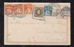Dänemark Denmark 1910 Uprated Stationery With Sweden Stamp To EUTIN Germany - 1905-12 (Frederik VIII)