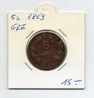 Grecia - 1869 - 5 Lepta - (FDC9547) - Grecia