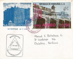 Honduras 1989 Tegucigalpa French Revolution Bastille FDC Cover - Révolution Française