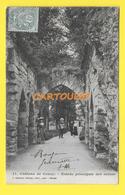 CPA 02 COUCY Le CHATEAU Entrée De Ruines Animée 1904  ֎ - France