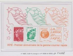 France Feuillet F4687 Courrier Rapide - Sheetlets