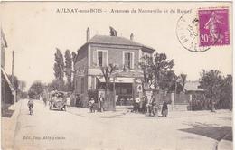 93 - AULNAY-sous-BOIS - Avenues De Nonneville Et Du Raincy - 1933 / Café, Tabac E. BOUGEROLLES / Voiture - Aulnay Sous Bois