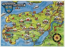 AK  Orientierungskarte Map Eiderstedt - Cartes Géographiques