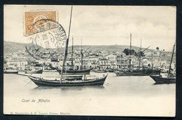 Quai De Mételin - 50 Paras With Bilangual Postmark -  Ed. Nicolaides & H Daniel - Μυτιλήνη - Lesbos - Mitili -Grèce - Griechenland