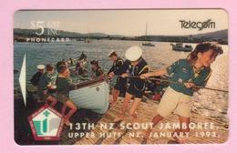New Zealand - 1992 13th NZ Scout Jamboree $5 - NZ-E-3 - VFU - New Zealand