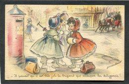 CPA - Illustration Germaine BOURET - Il Parait Qu'il Est Très Joli Le Brigand Qui Attaque La Diligence ! - Bouret, Germaine