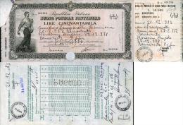 BUONO POSTALE FRUTTIFERO 50.000 SERIE O 9% 1983 BENEVENTO - Non Classificati