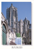 Carte-Maximum FRANCE N° Yvert 3349 (Cathédrale De BOURGES) Obl Ord Bourges (Ed MG) - 2000-09