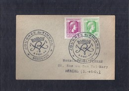 Enveloppe Locale Journee Du Timbre 1944 Bordeaux Marianne D'alger - France