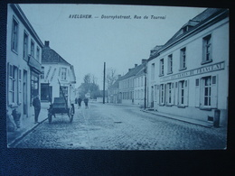 AVEGHEM : Doornykstraat En Hôtel De France In 1911 - Avelgem
