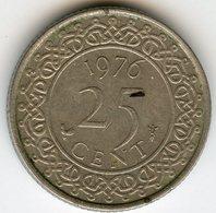 Surinam Suriname 25 Cents 1976 KM 14 - Surinam 1975 - ...