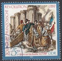 Germania Democratica 1989 Sc. 2757 Storming Of The Bastille - Bastiglia Germany DDR Used - French Revolution