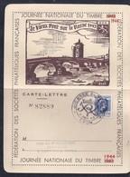 Carte Lettre Locale Journee Du Timbre 1944 Lyon Marianne D'alger - Frankreich