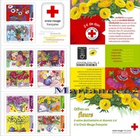 """France 2018 Croix-Rouge Red Cross  - Offrez Ces Fleurs """" Offer These Flowers """" 10v MNH - Végétaux"""